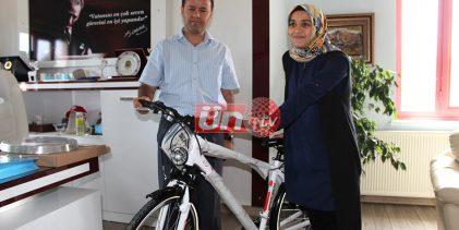 Slogan Yarışmasında İl İkincisine Bisiklet