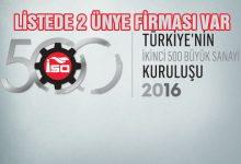 Türkiye'nin İkinci 500 Büyük Sanayi Kuruluşları açıklandı