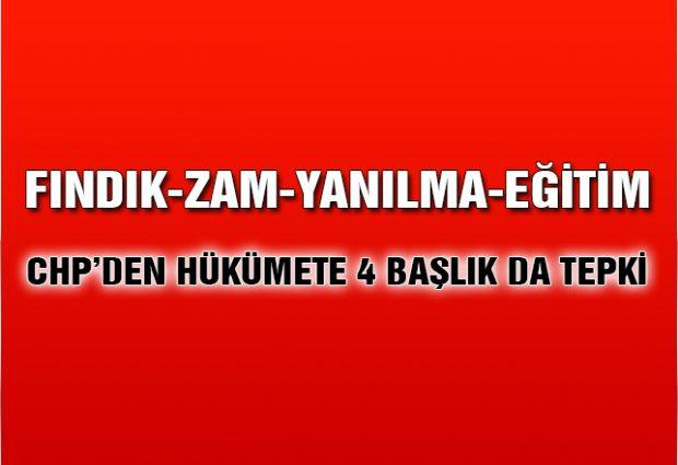 CHP'den Hükümete 4 Başlıkta Tepki!