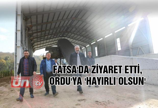 Fatsa'da Ziyaret Etti, Ordu'ya 'Hayırlı Olsun' Dedi