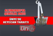 Altınordu'ya Şehitlik Anıtı Ünye'de Heyecan Yarattı