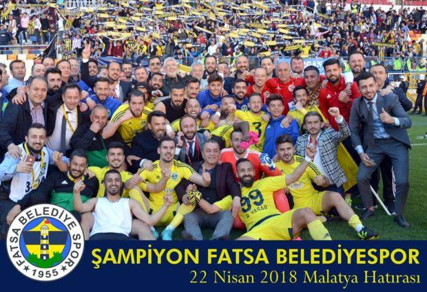 Fatsa Belediyespor'dan 3.Lig Zaferi