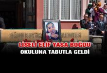 Liseli Elif Okuluna Tabutla Geldi